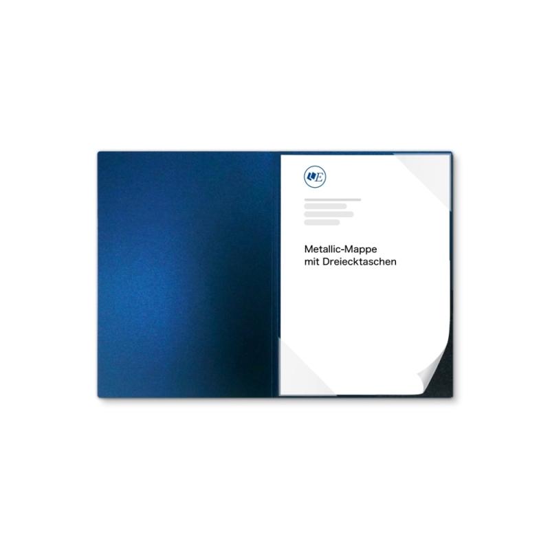 Metallic-Design 1-teilig in Nachtblau mit Dreiecktaschen