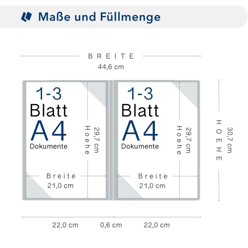 Metallic-Design 2-teilig in Nachtblau mit 2 Seiten Dreiecktaschen