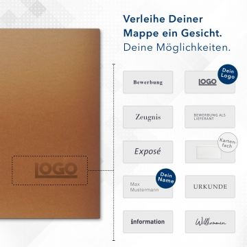 Metallic-Design 1-teilig in Kupfer mit Dreiecktaschen