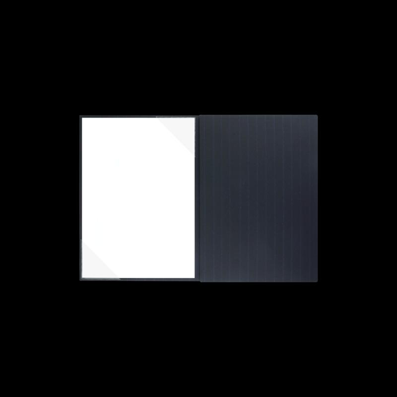 Textilstruktur 3-teilig Navy Blue Klemmschienen PRESTIGE