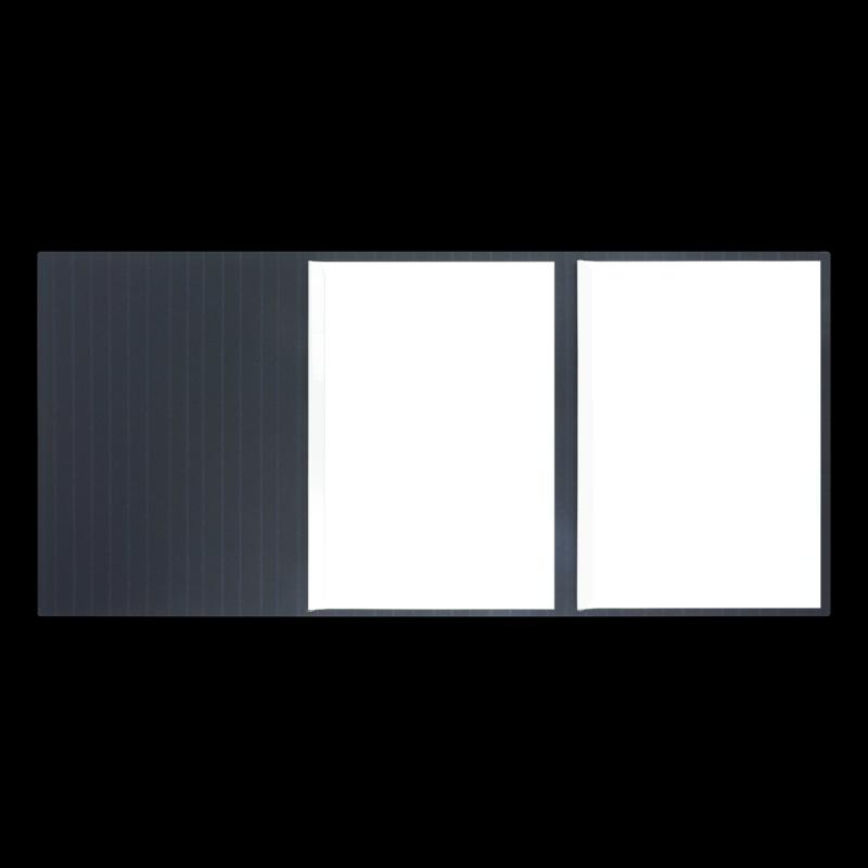 Textilstruktur 3-teilig Navy Blue Klemmschienen SPIRIT