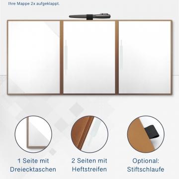 Metallic-Design 4-teilig in Kupfer mit 2 Seiten Dreiecktaschen und 2 Heftstreifen