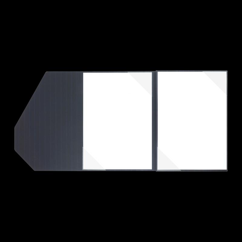 Textilstruktur 4-teilig Navy Blue Heftstreifen PREMIUM