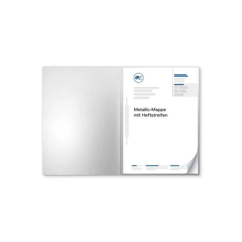 Metallic-Design 1-teilig in Silber mit 1 Heftstreifen