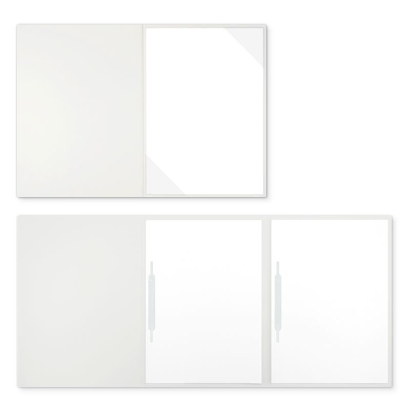 Textilstruktur 3-teilig Pearl White Heftstreifen EXKLUSIV