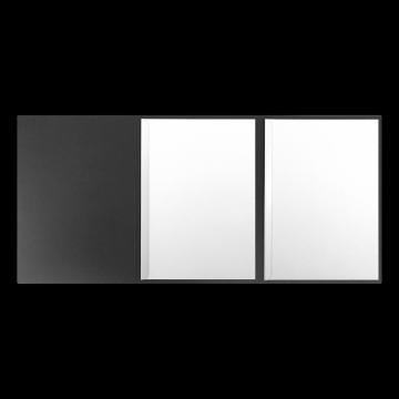 Textilstruktur 3-teilig Dark Grey Klemmschienen EXKLUSIV