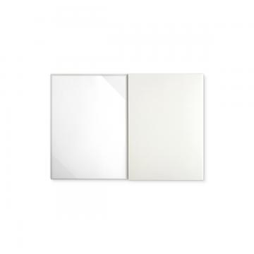 Textilstruktur 3-teilig Pearl White Klemmschienen PRESTIGE