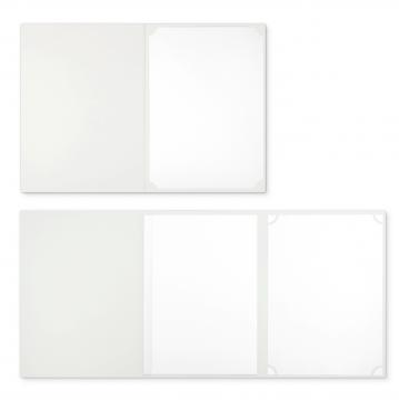 Textilstruktur 3-teilig Pearl White Klemmschienen BUSINESS