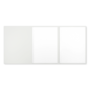 Textilstruktur 3-teilig Pearl White Klemmschienen IMAGE
