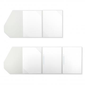 Textilstruktur 4-teilig Pearl White Heftstreifen PREMIUM