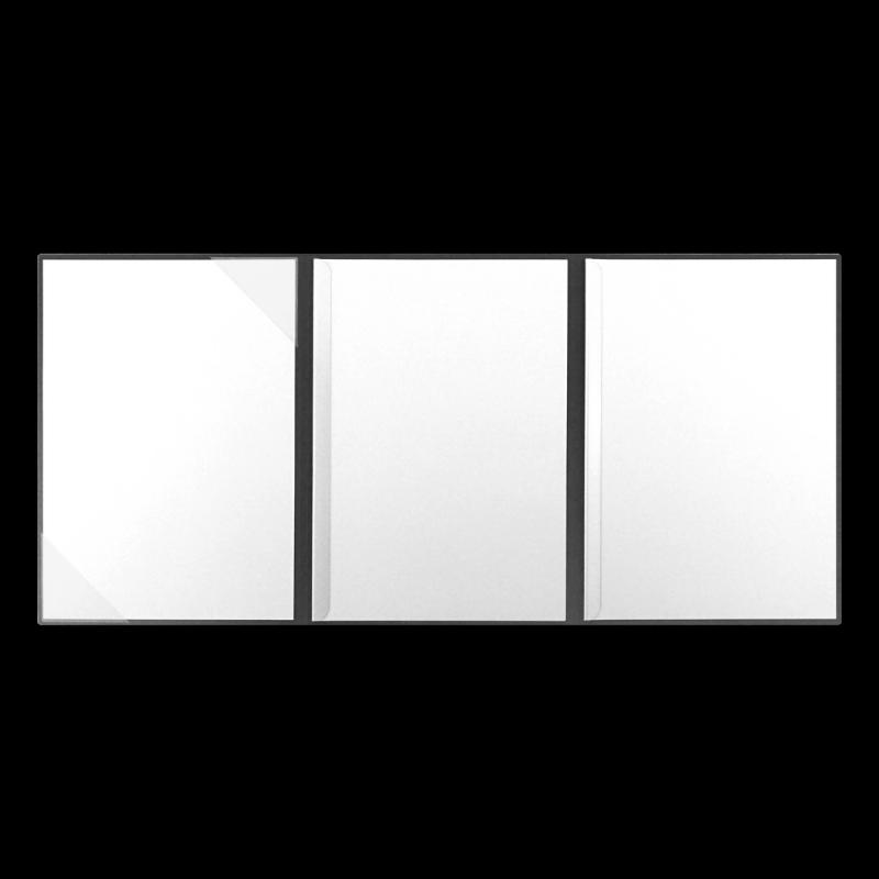 Textilstruktur 4-teilig Dark Grey Klemmschienen SUCCESS