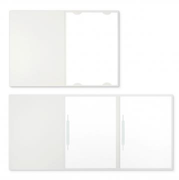 Textilstruktur 3-teilig Pearl White Heftstreifen IMAGE