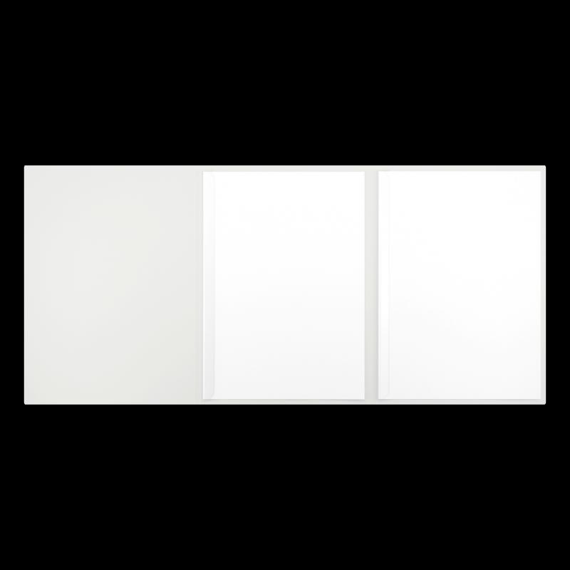 Textilstruktur 3-teilig Pearl White Klemmschienen EXKLUSIV