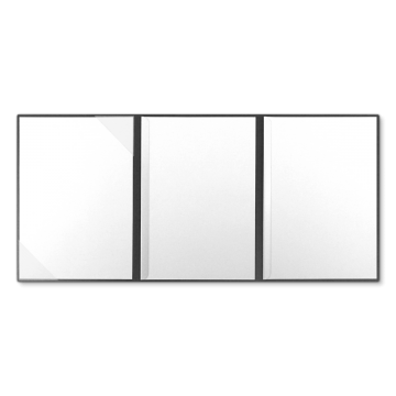 Textilstruktur 3-teilig Dark Grey Klemmschienen PRESTIGE