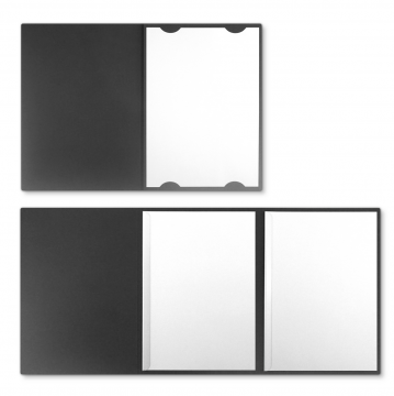 Textilstruktur 3-teilig Dark Grey Klemmschienen IMAGE