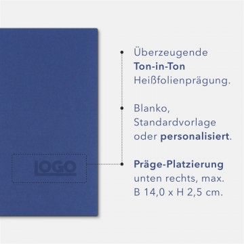 Holzstruktur 1-teilig in Königsblau mit 1 Klemmschiene