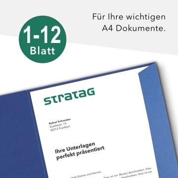 Holzstruktur 1-teilig in Königsblau mit Laschen
