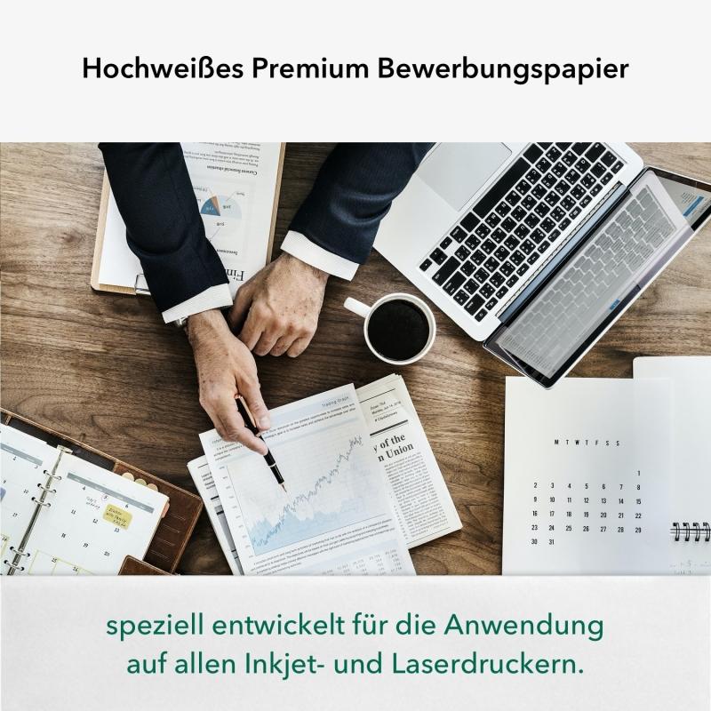 1.000 Blatt A4 100 g/m² Premium Bewerbungspapier Super White (4x 250 Blatt)