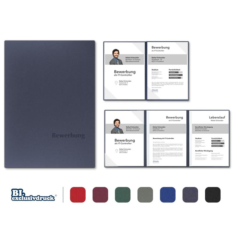 5 Stück BL-exclusivdruck® MEGA-plus Bewerbungsmappen % SALE