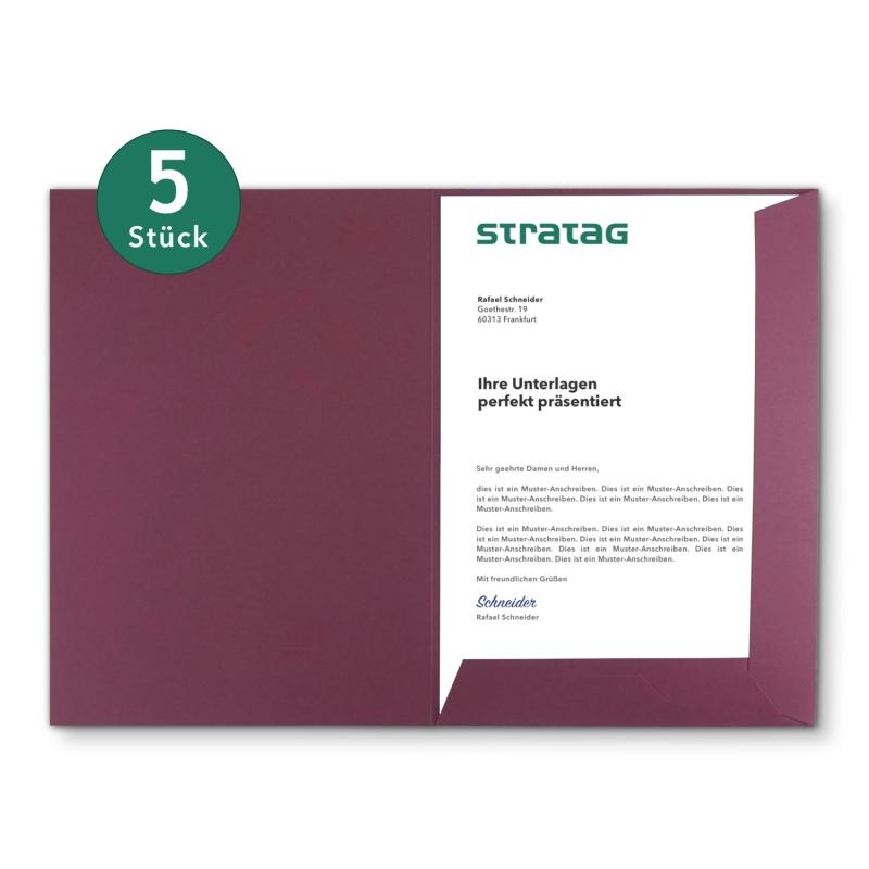 5 Stück BL-exclusivdruck® Präsentationsmappen