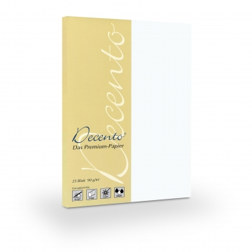 25 Blatt A4 90 g/m² Decento® Bewerbungspapier
