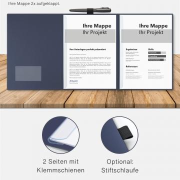 5 Stück Kondolenzmappen BL-exclusivdruck® OPTIMA Holzstruktur