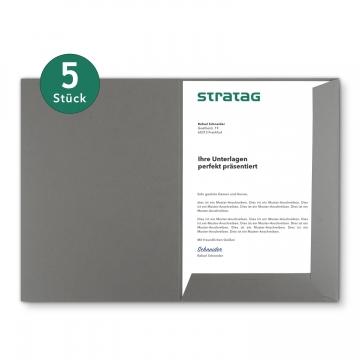 5 Stück Präsentationsmappen BL-exclusivdruck® Holzstruktur