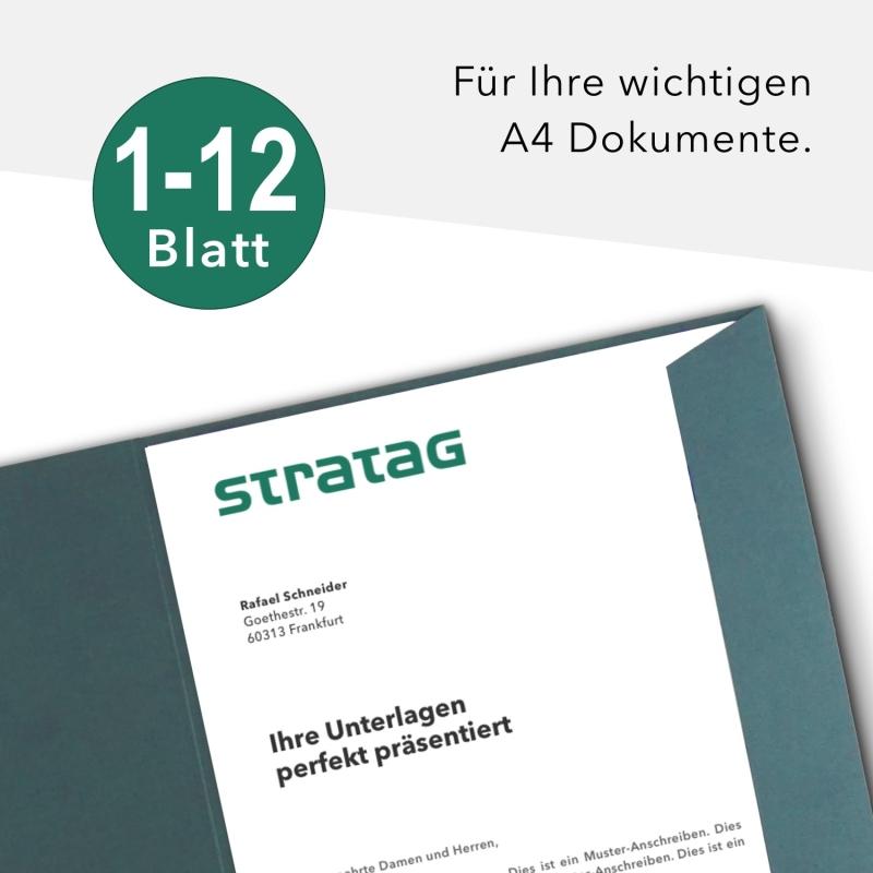 40 Stück Präsentationsmappen BL-exclusivdruck® Holzstruktur