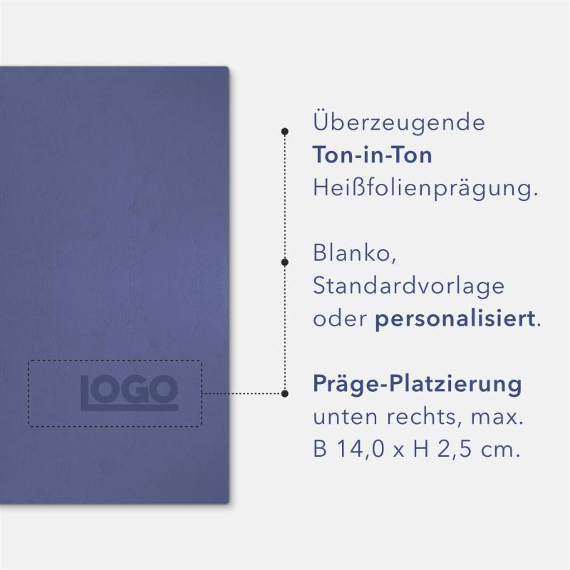 8 Stück Urkundenmappen favorit© Basic-plus Lederstruktur