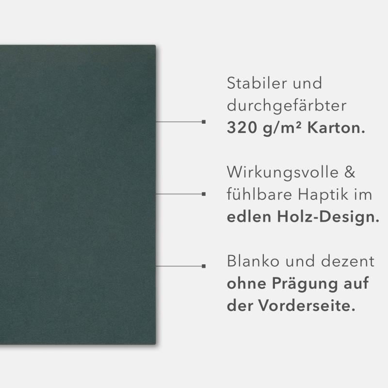 60 Stück Präsentationsmappen BL-exclusivdruck® Holzstruktur