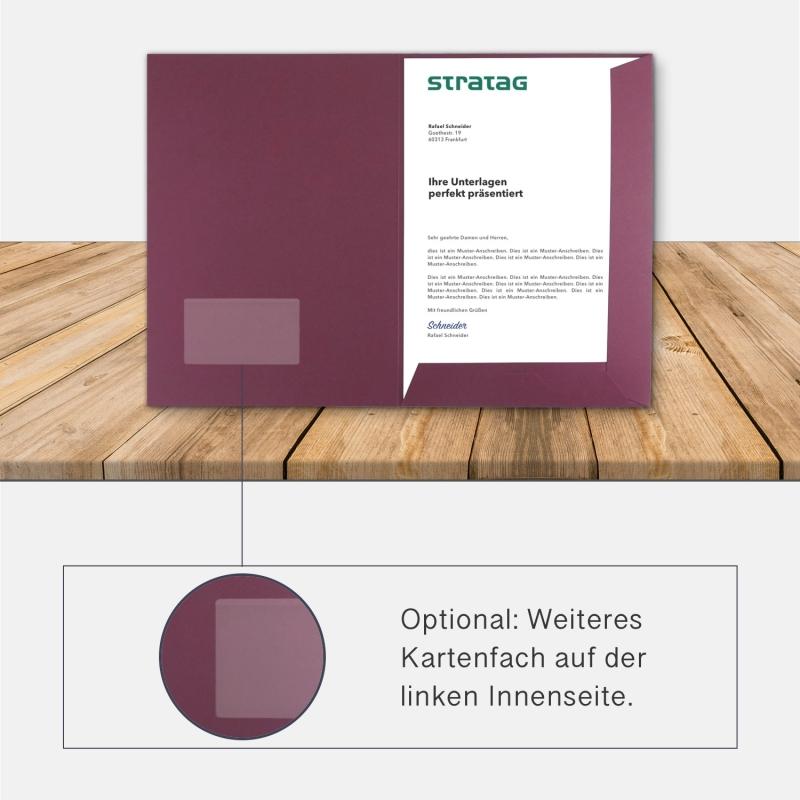 80 Stück Präsentationsmappen BL-exclusivdruck® Holzstruktur