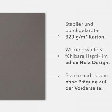 8 Stück Kondolenzmappen BL-exclusivdruck® BL-plus Holzstruktur