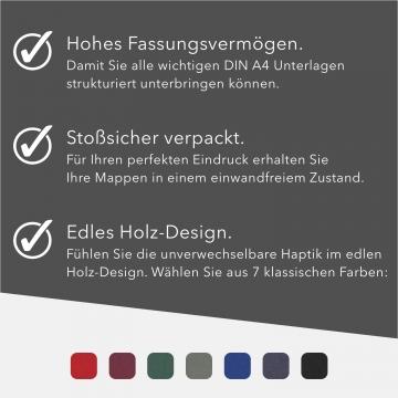 8 Stück Urkundenmappen BL-exclusivdruck® BASIC-plus Holzstruktur