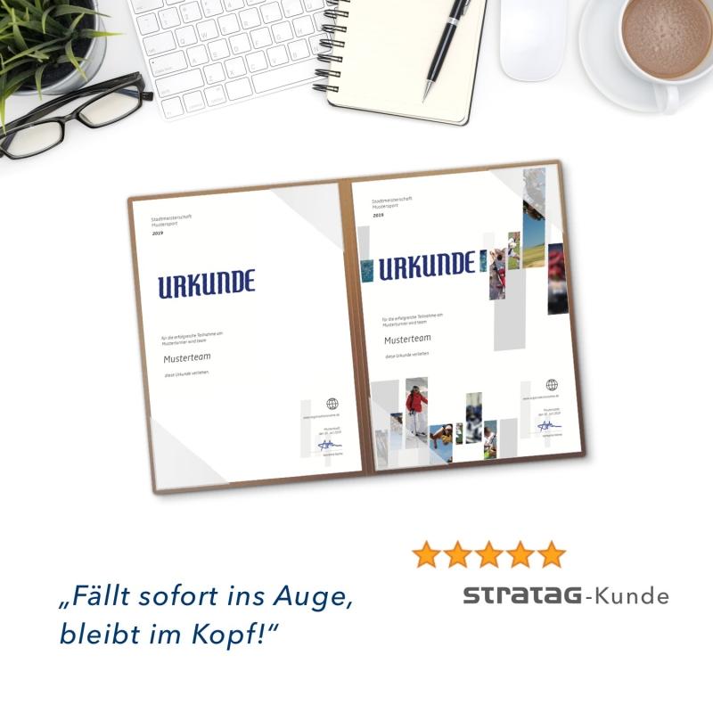 8 Stück Urkundenmappen Esclusiva® Basic-plus Metallic-Design