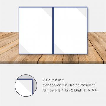 8 Stück Kondolenzmappen BL-exclusivdruck® BASIC-plus Holzstruktur