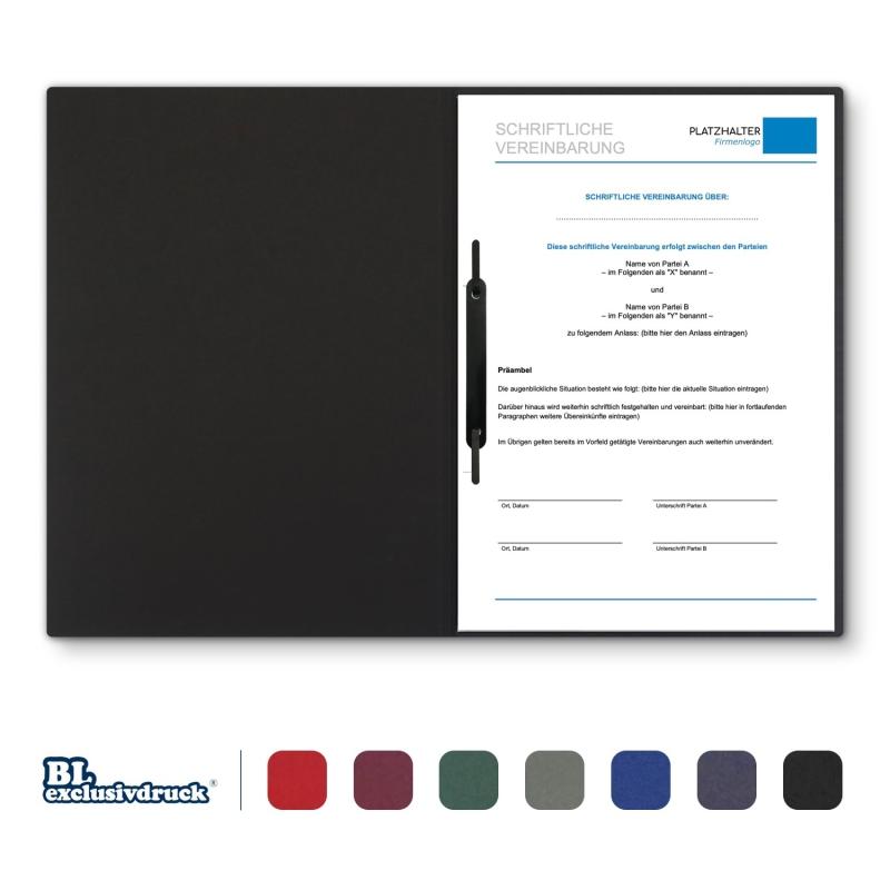 8 Stück Vertragsmappen mit Abheftstreifen BL-exclusivdruck® BL Holzstruktur