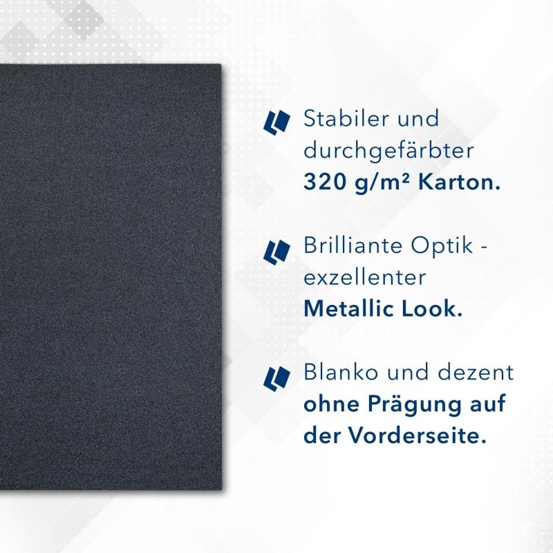 8 Stück Vertragsmappen mit Abheftstreifen Esclusiva® Classic-plus Metallic-Design