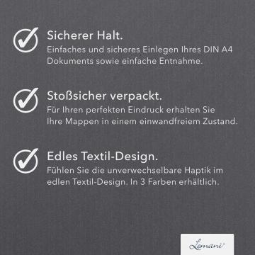 8 Stück Vertragsmappen mit Abheftstreifen Lemani® IMPULS Textilstruktur