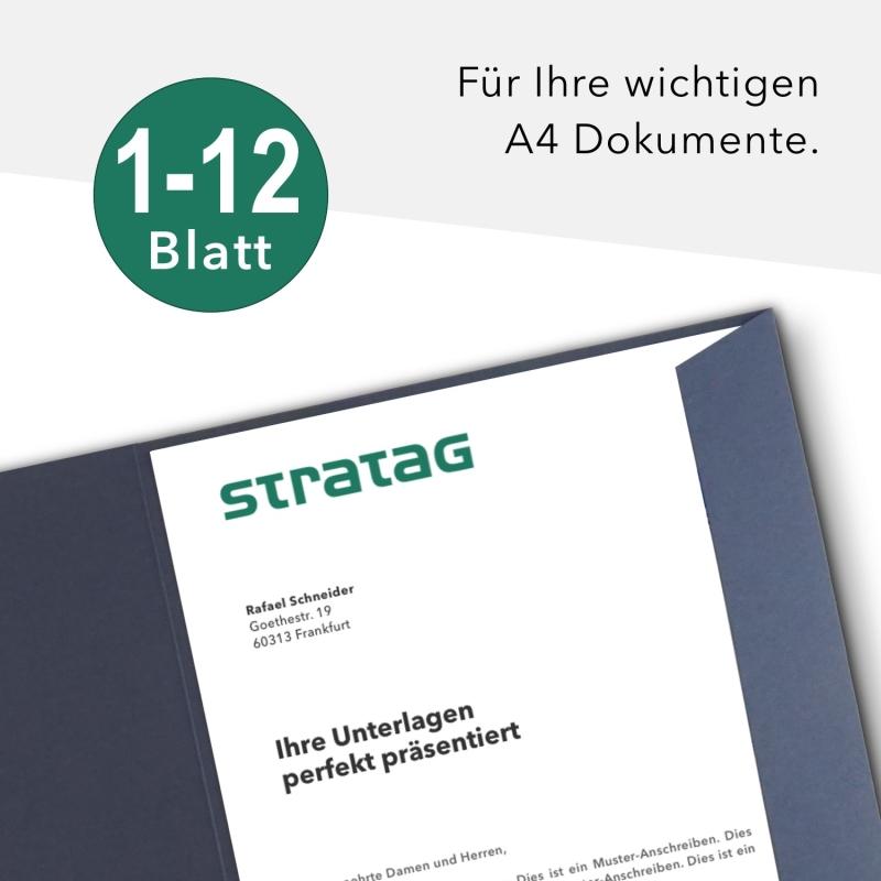 20 Stück Werbemappen BL-exclusivdruck® Holzstruktur
