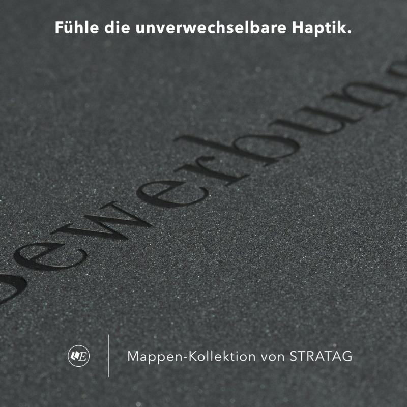 5 Stück 4-teilige Werbemappen Esclusiva® Exzellent-plus Metallic-Design
