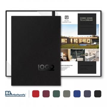 8 Stück Hotelmappen BL-exclusivdruck® BL-plus Holzstruktur