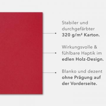 5 Stück 3-teilige Werbemappen BL-exclusivdruck® OPTIMA-plus Holzstruktur