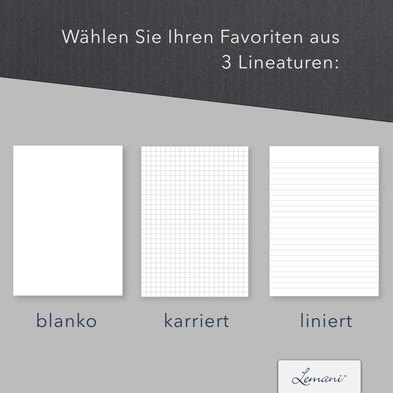 8 Stück Seminarmappen mit Schreibblock Lemani® IMPULS Textilstruktur