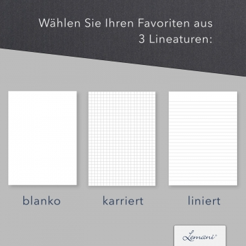 5 Stück Tagungsmappen mit Schreibblock Lemani® CARISMA Textilstruktur