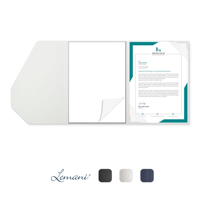5 Stück Tagungsmappen mit Schreibblock Lemani® SMART Textilstruktur