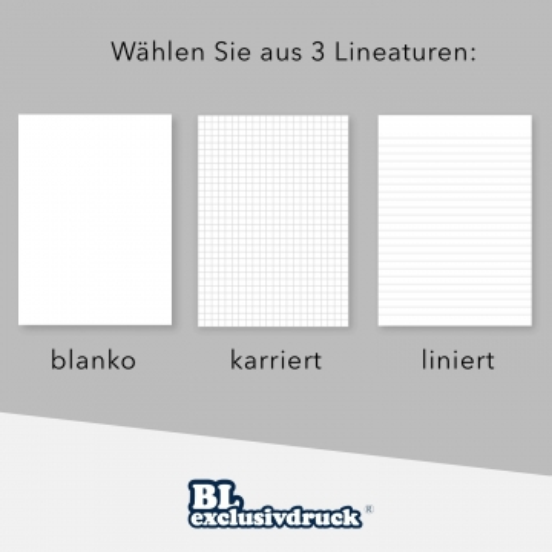 5 Stück Tagungsmappen mit Schreibblock BL-exclusivdruck® BL-plus Holzstruktur