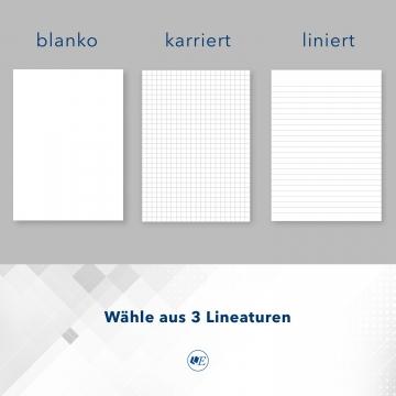 8 Stück Seminarmappen mit Schreibblock Esclusiva® Classic Metallic-Design