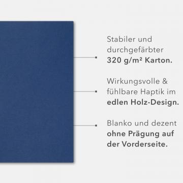 8 Stück Seminarmappen mit Schreibblock BL-exclusivdruck® BL Holzstruktur